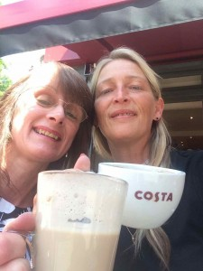 Coffee selfie with Mary
