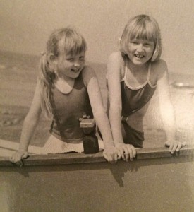 Early years, with my sister