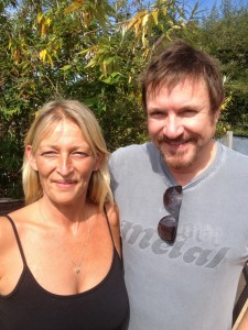 Me with Simon Le Bon in my garden but I don't like to talk about it lol